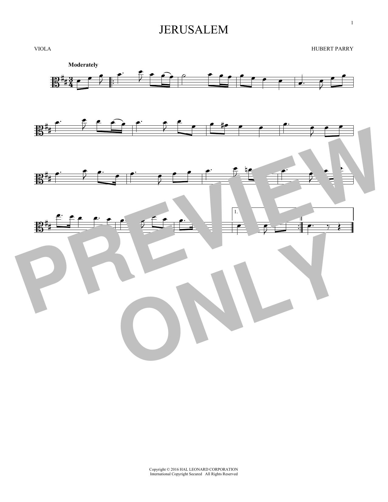 Jerusalem (Viola Solo)