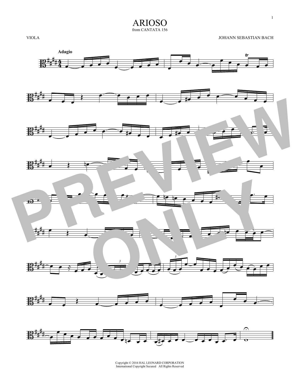 Arioso (Viola Solo)