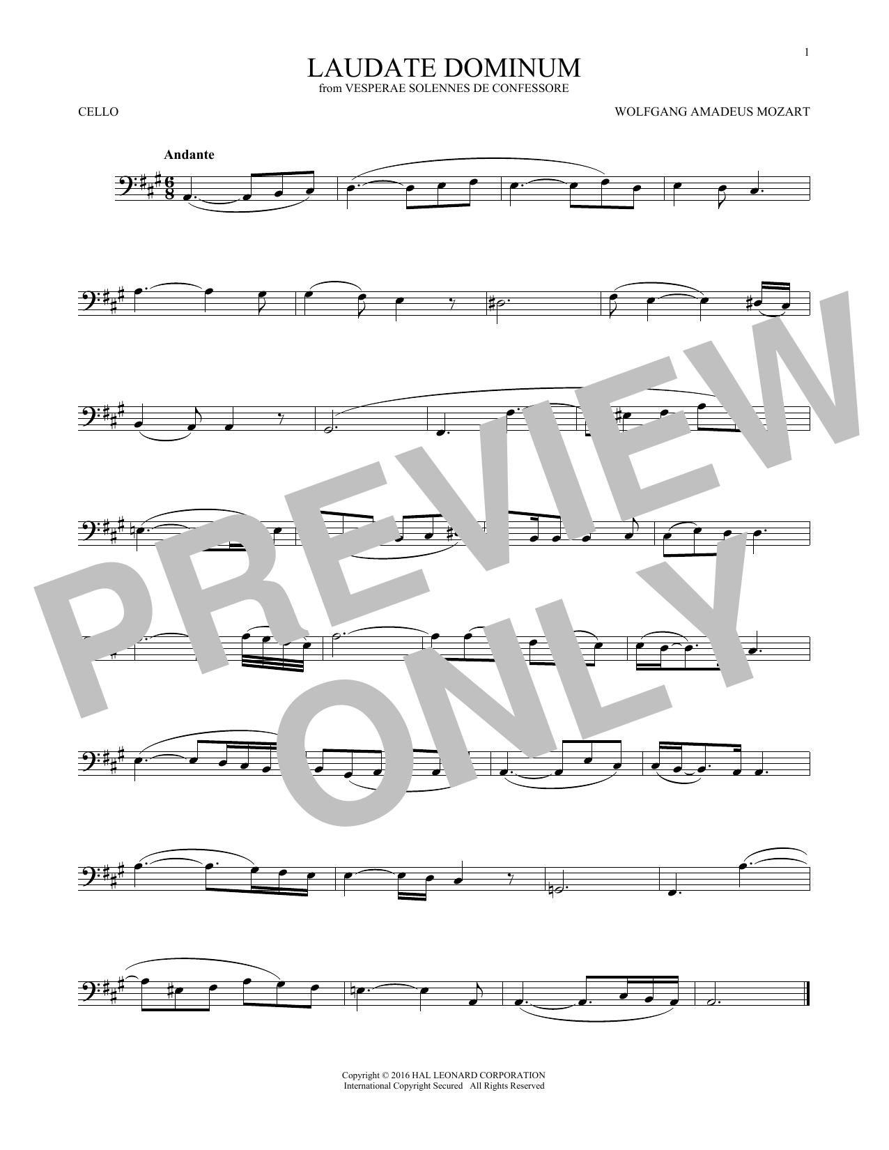 Laudate Dominum (Cello Solo)