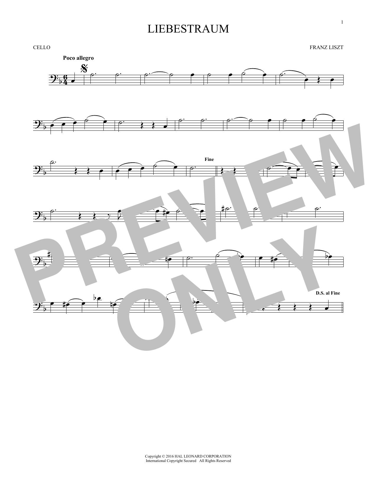Liebestraum (Dream Of Love) (Cello Solo)