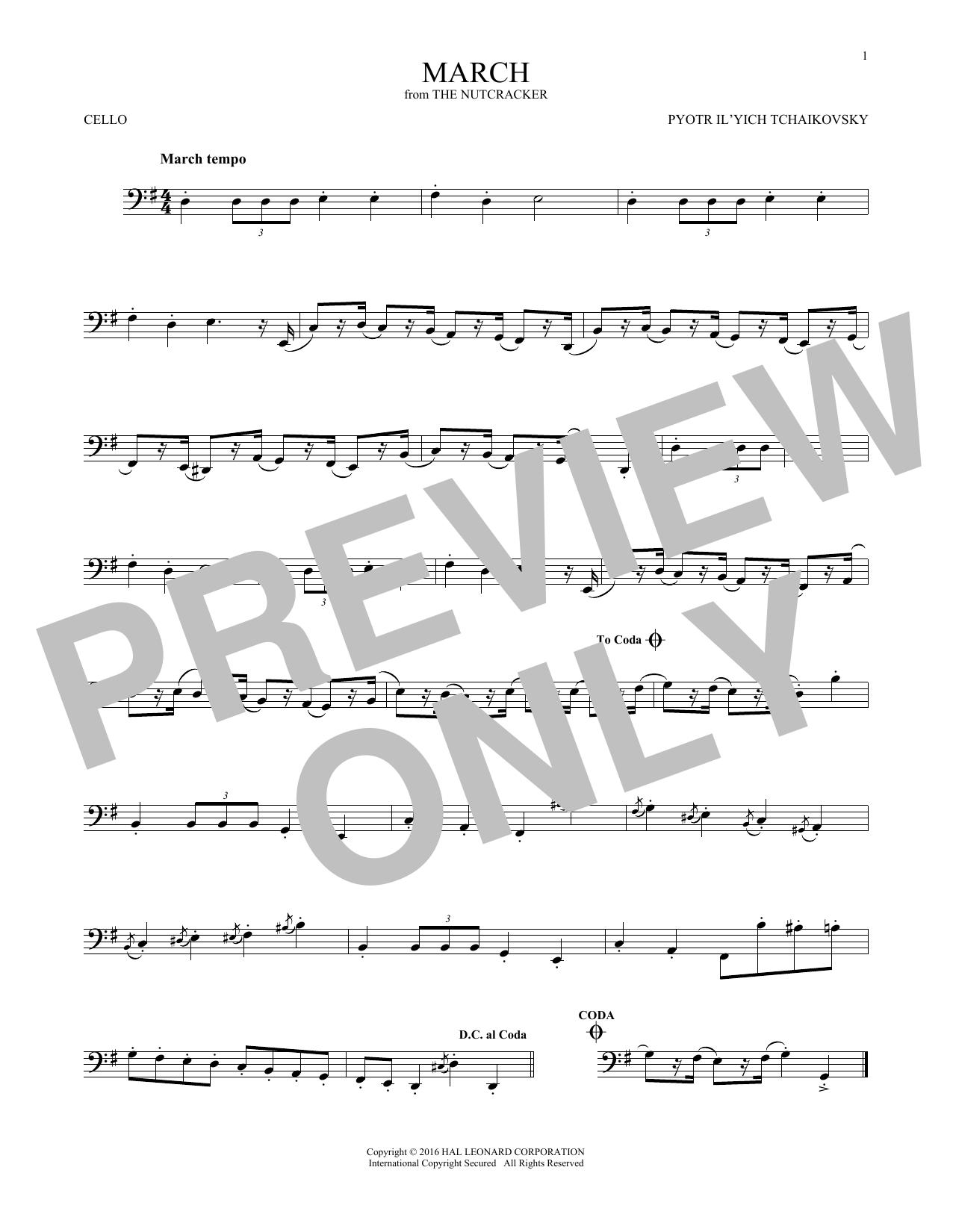 March (Cello Solo)