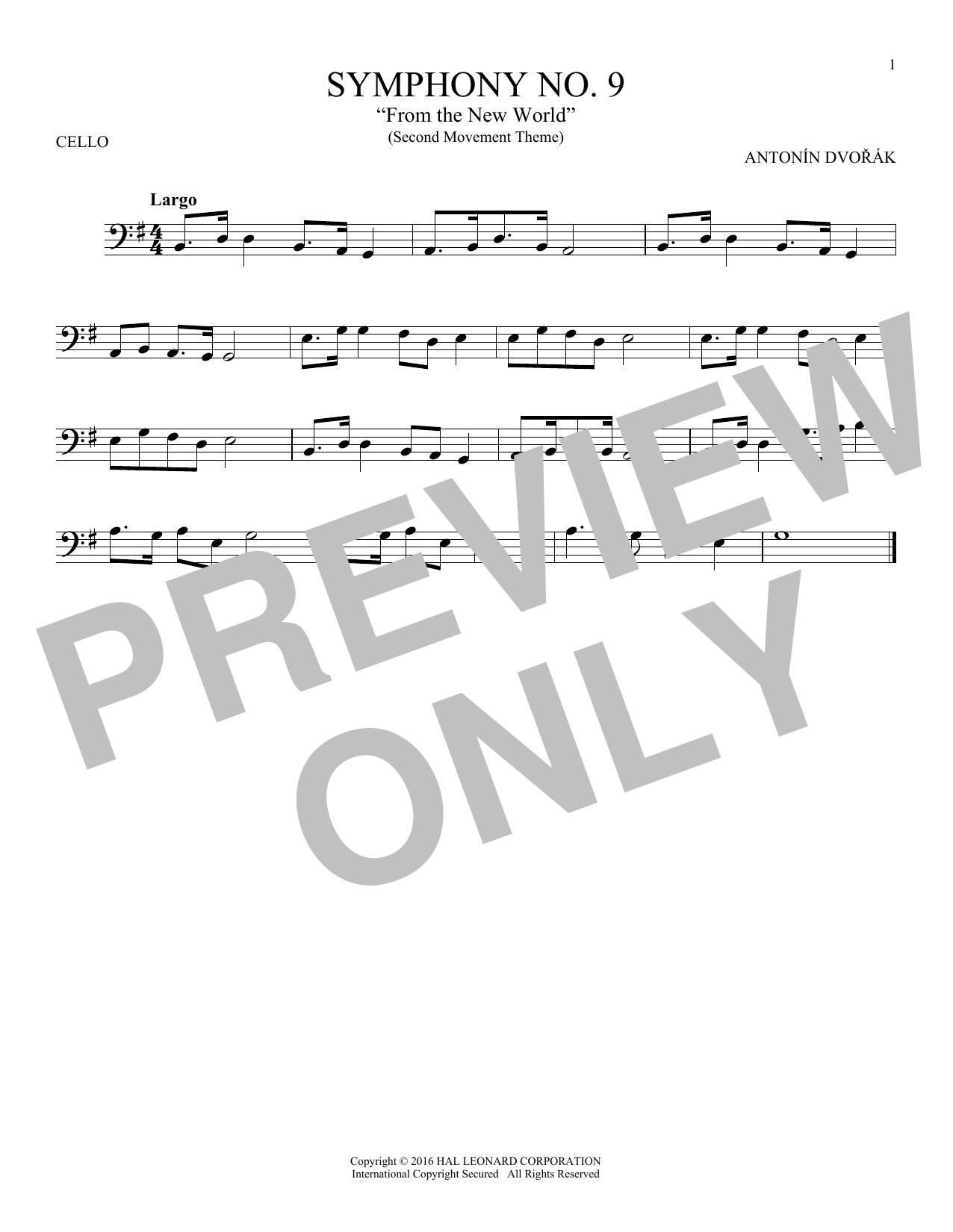 "Largo From Symphony No. 9 (""New World"") (Cello Solo)"