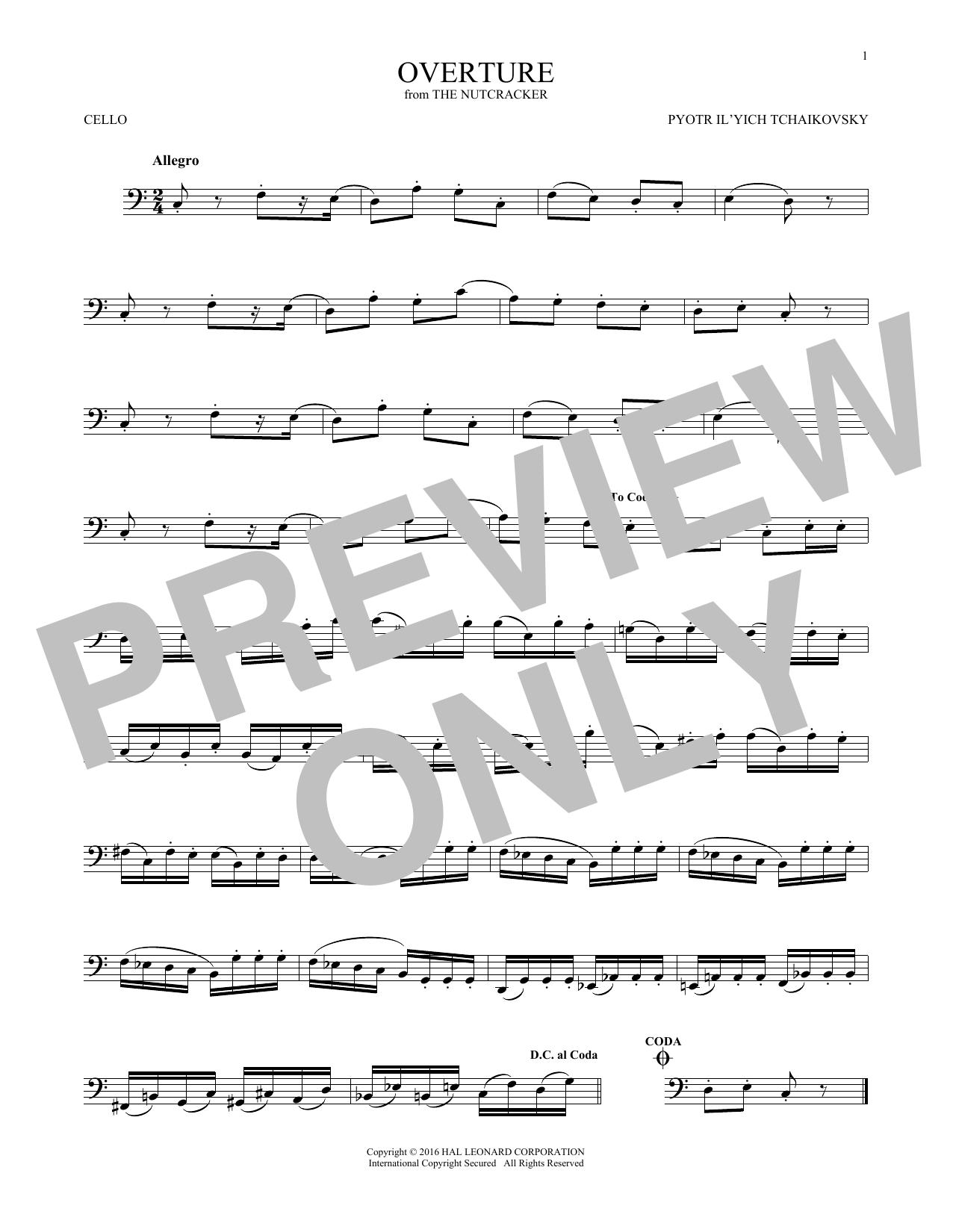 Overture (Cello Solo)