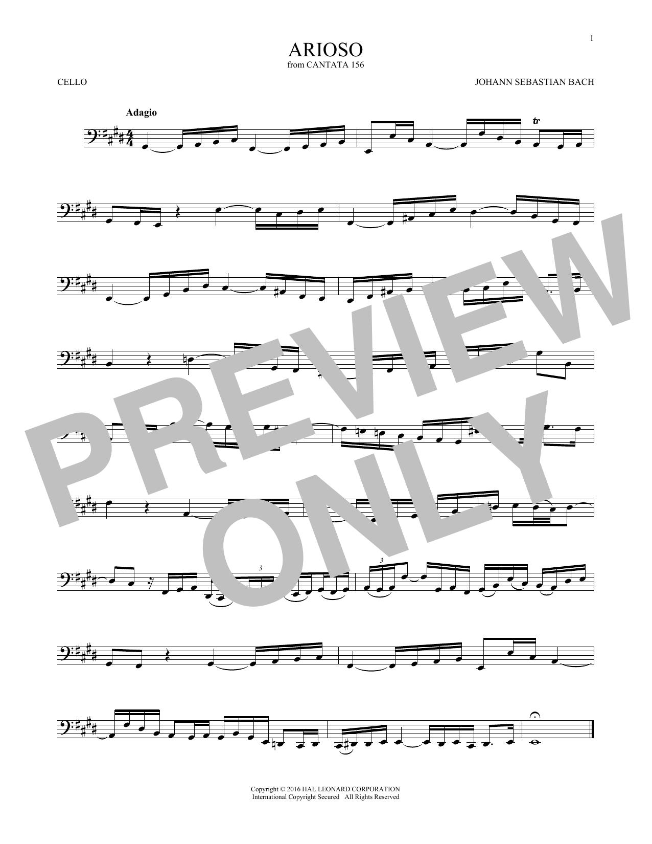 Arioso (Cello Solo)