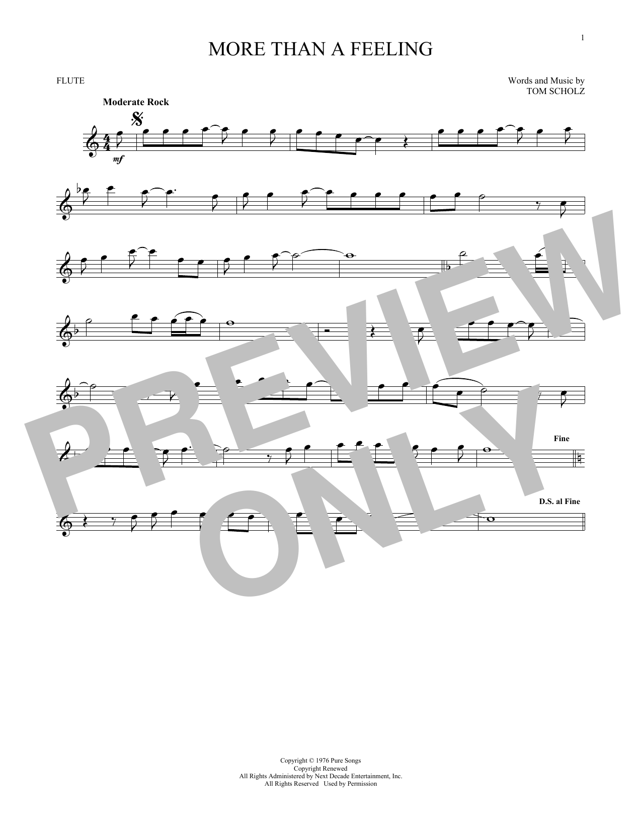 More Than A Feeling (Flute Solo)