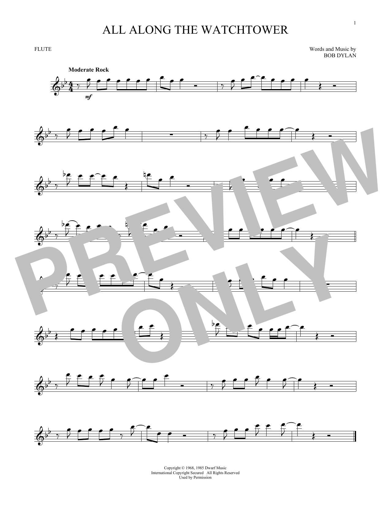 All Along The Watchtower (Flute Solo)