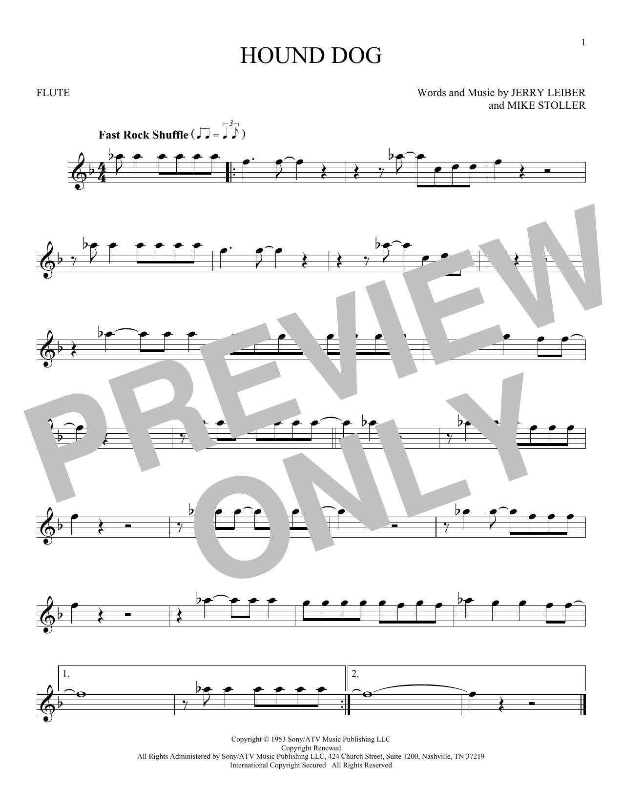 Hound Dog (Flute Solo)