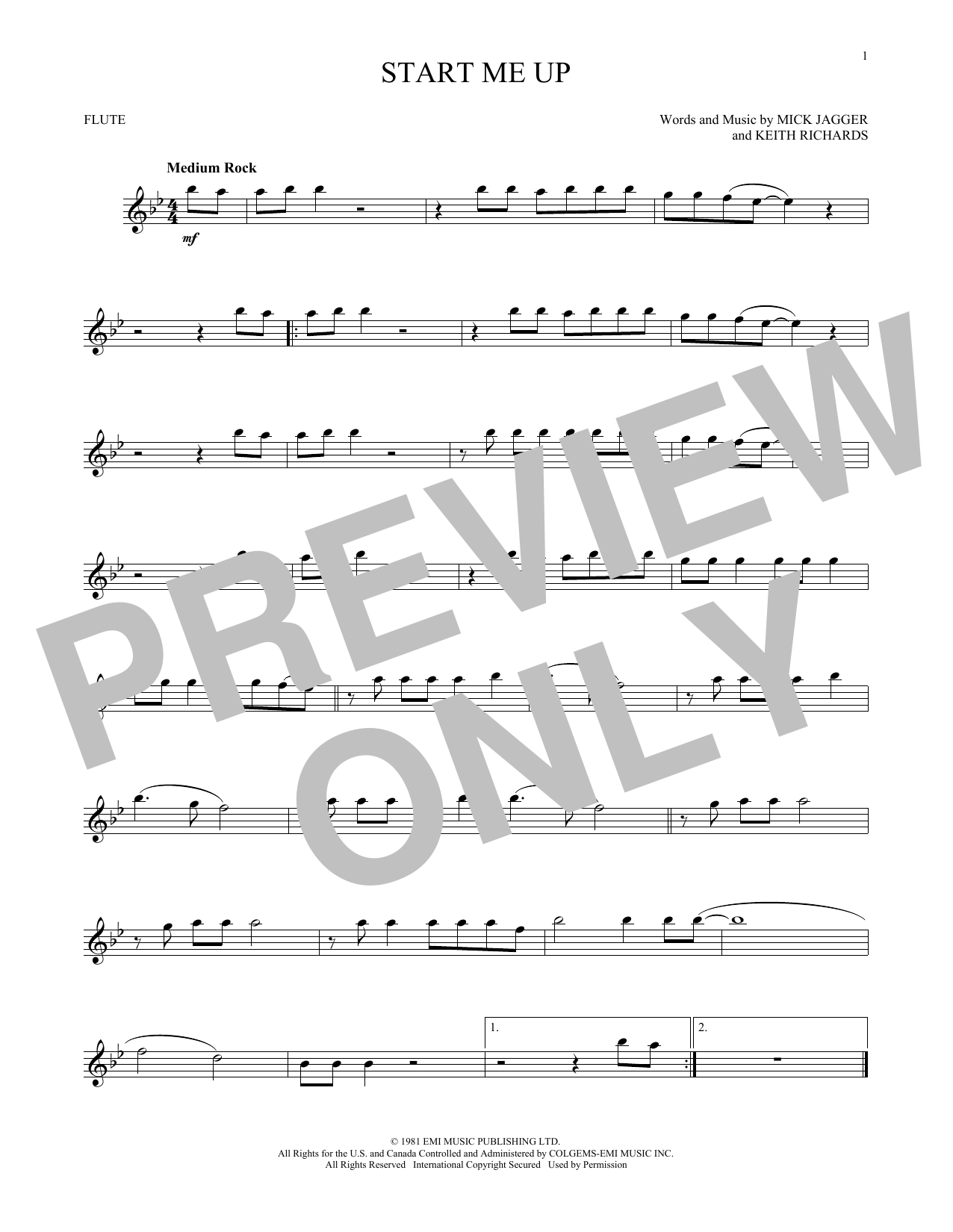 Start Me Up (Flute Solo)