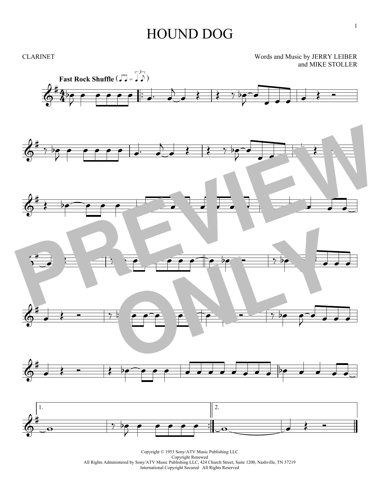 Hound Dog (Clarinet Solo)