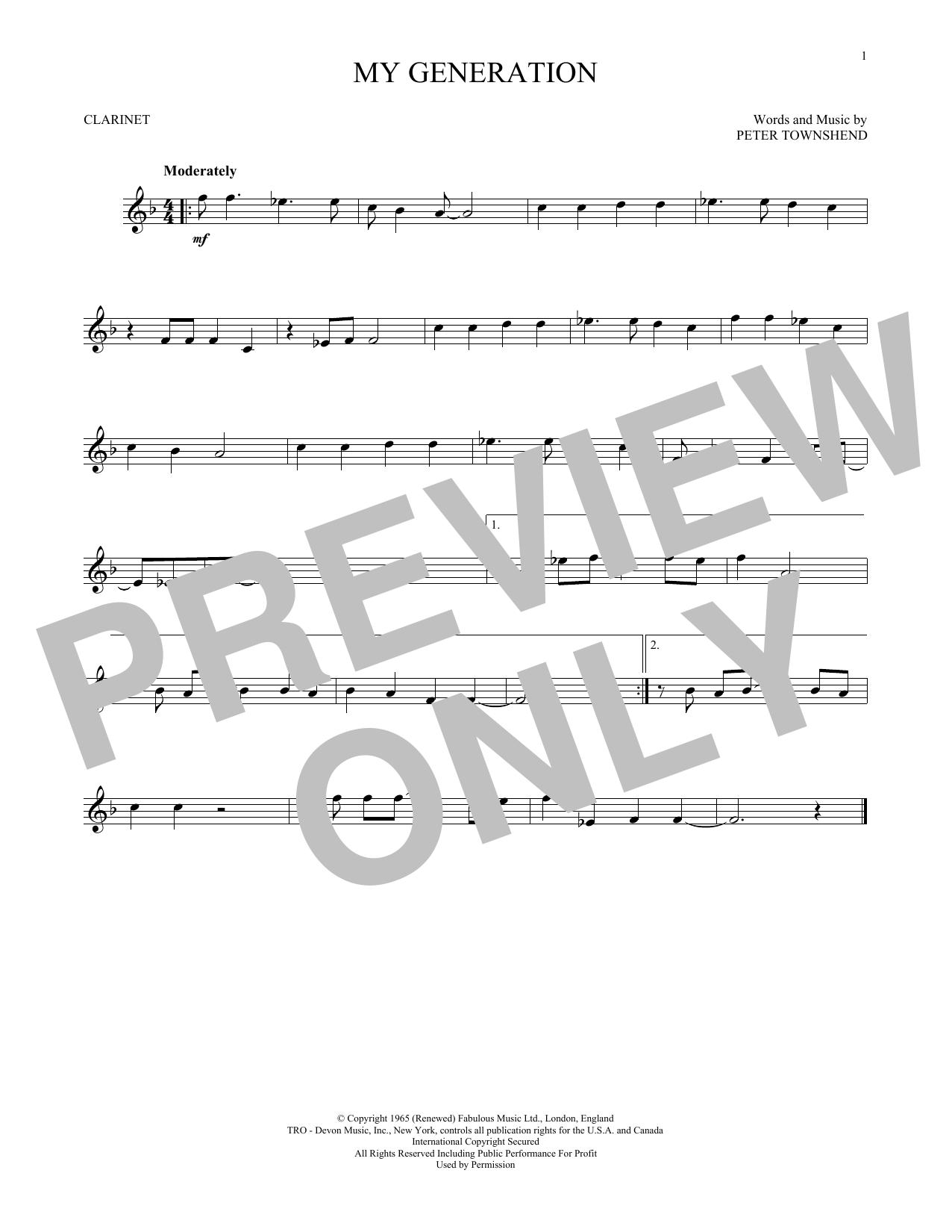 My Generation (Clarinet Solo)