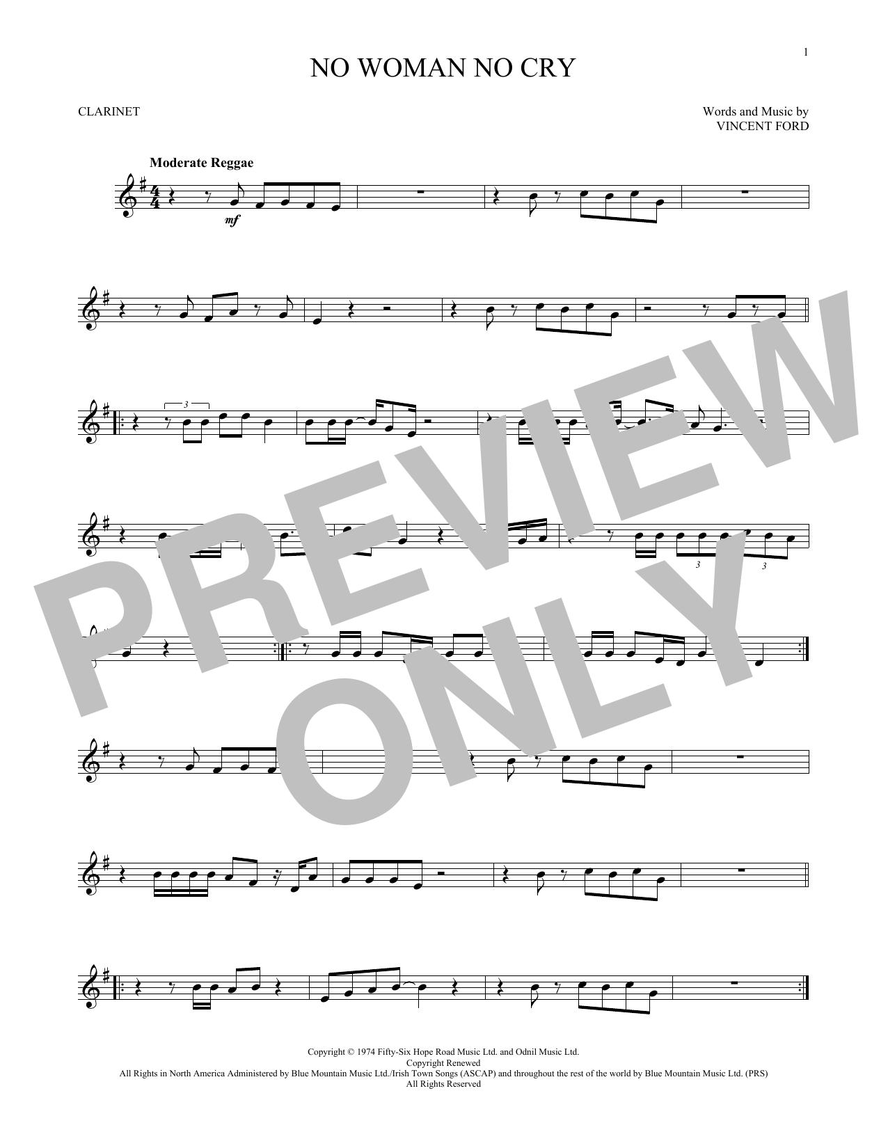 No Woman No Cry (Clarinet Solo)