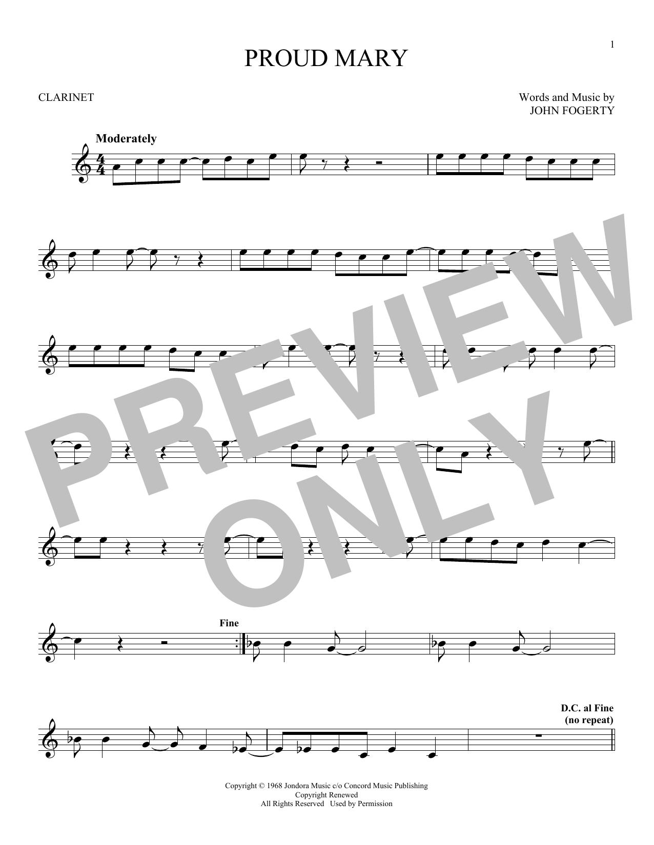 Proud Mary (Clarinet Solo)