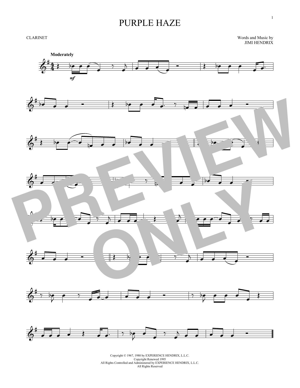 Purple Haze (Clarinet Solo)
