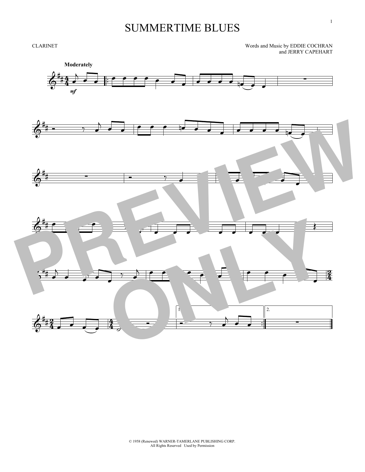 Summertime Blues (Clarinet Solo)