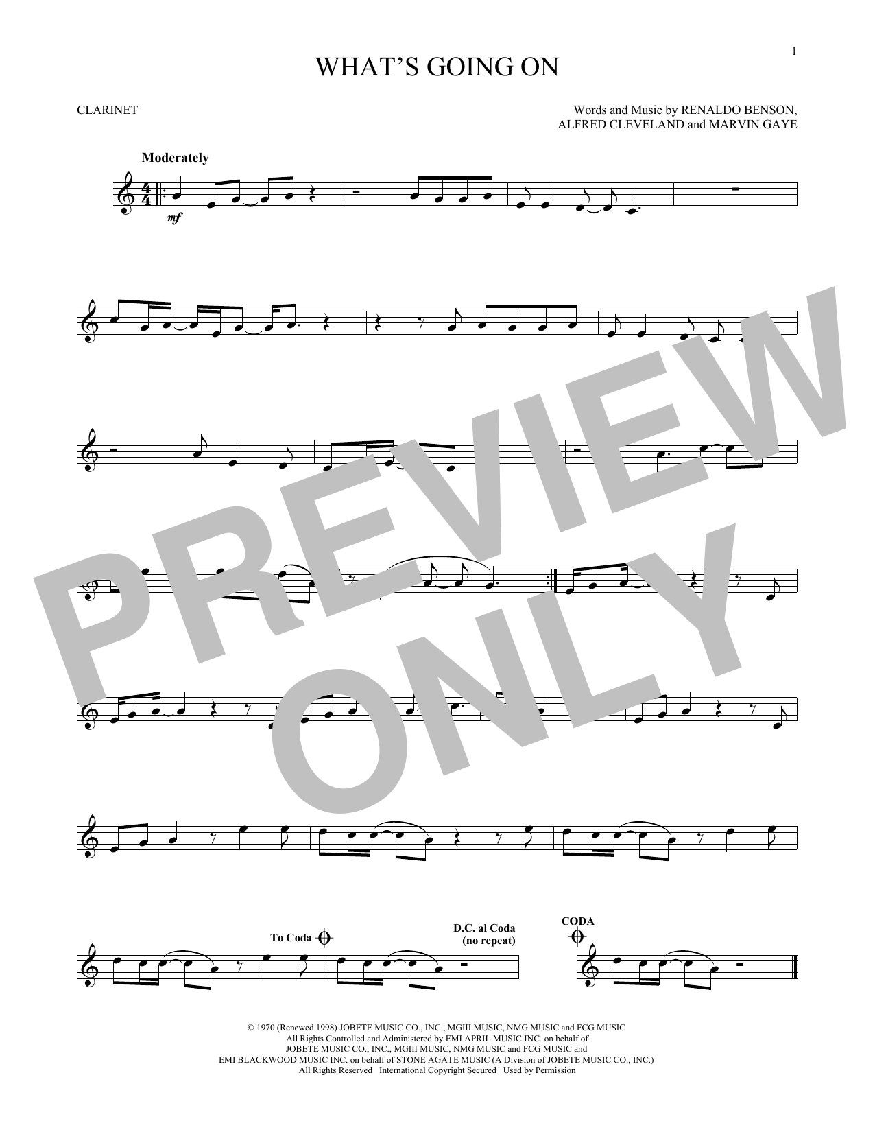 What's Going On (Clarinet Solo)