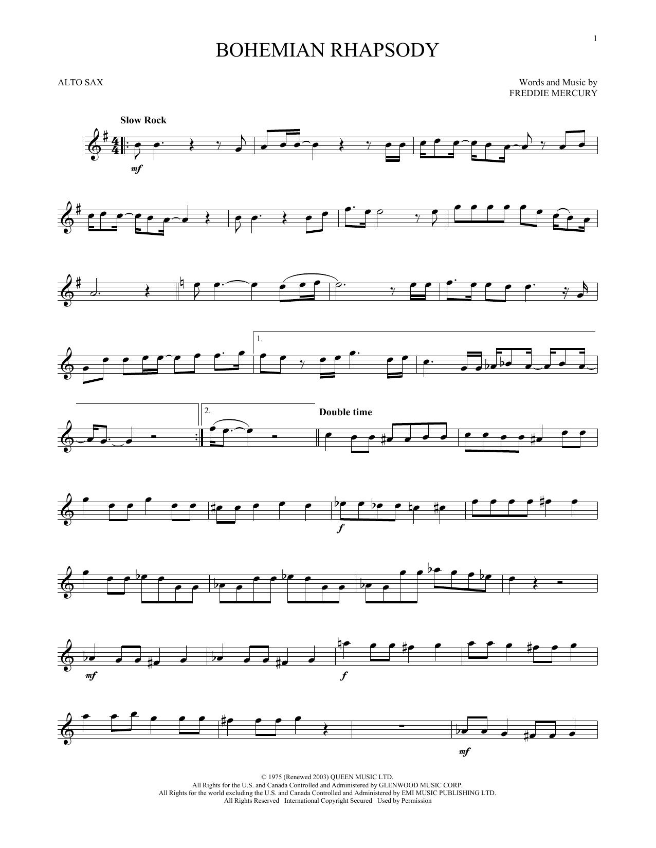 Bohemian Rhapsody (Alto Sax Solo)