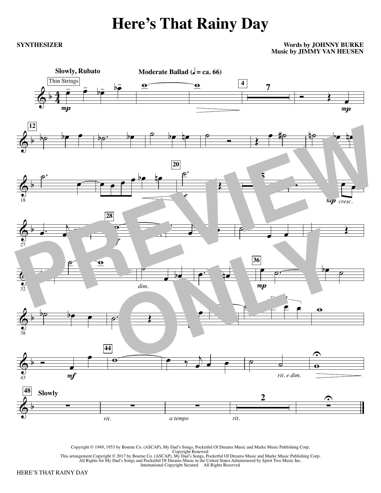 Here's That Rainy Day - Synthesizer (Choir Instrumental Pak)