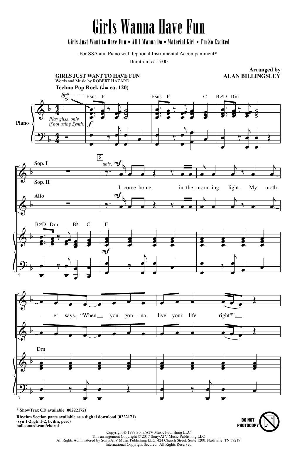Girls Wanna Have Fun (Medley) (SSA Choir)