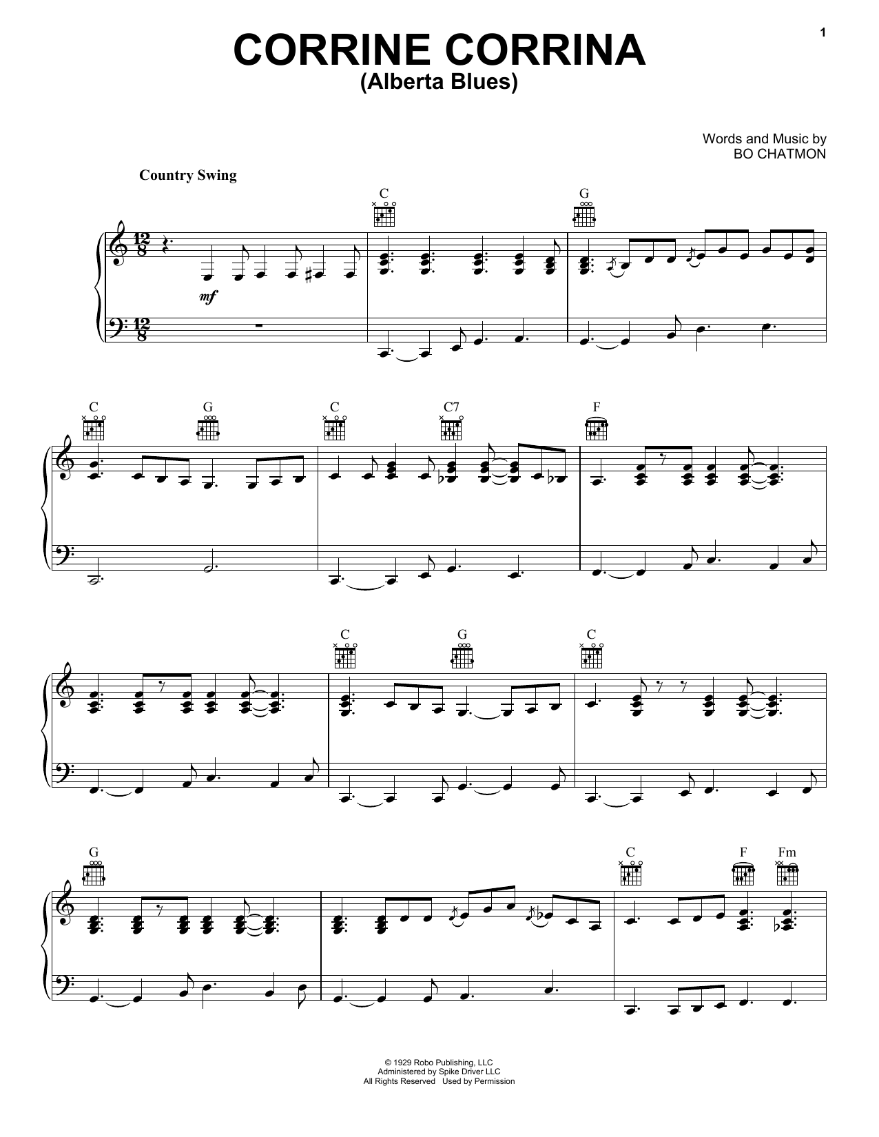 Alberta (Piano, Vocal & Guitar (Right-Hand Melody))