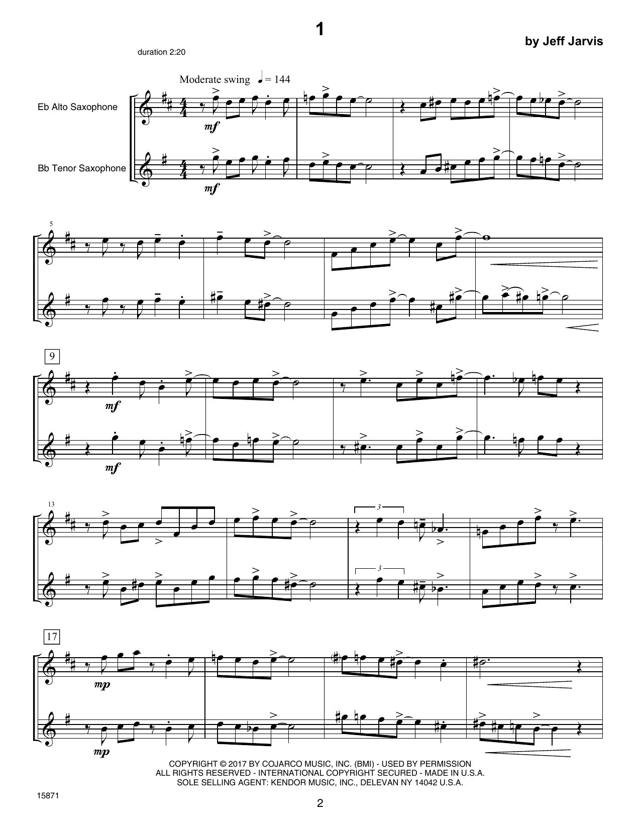 Ten Jazz Duets Sheet Music