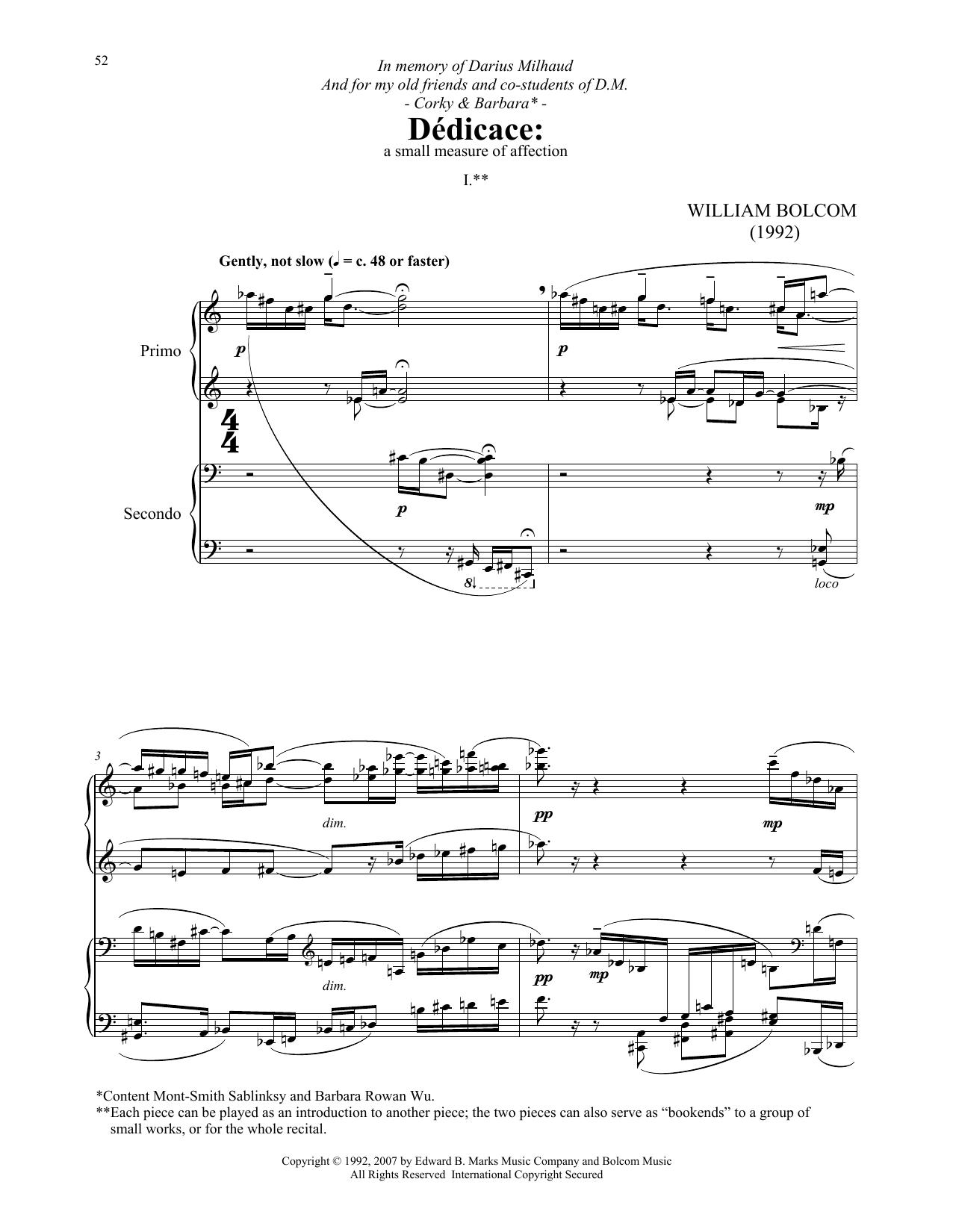 Dedicace (Piano Duet)