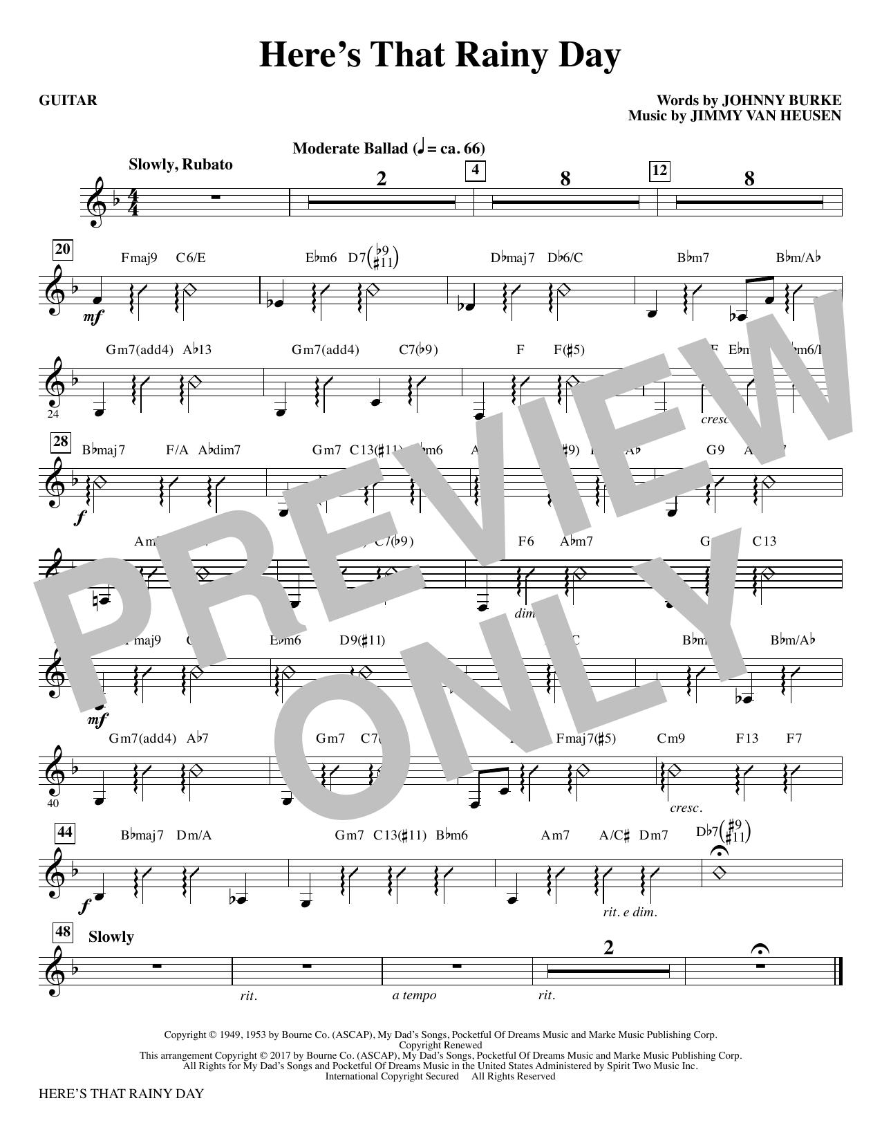 Here's That Rainy Day - Guitar (Choir Instrumental Pak)