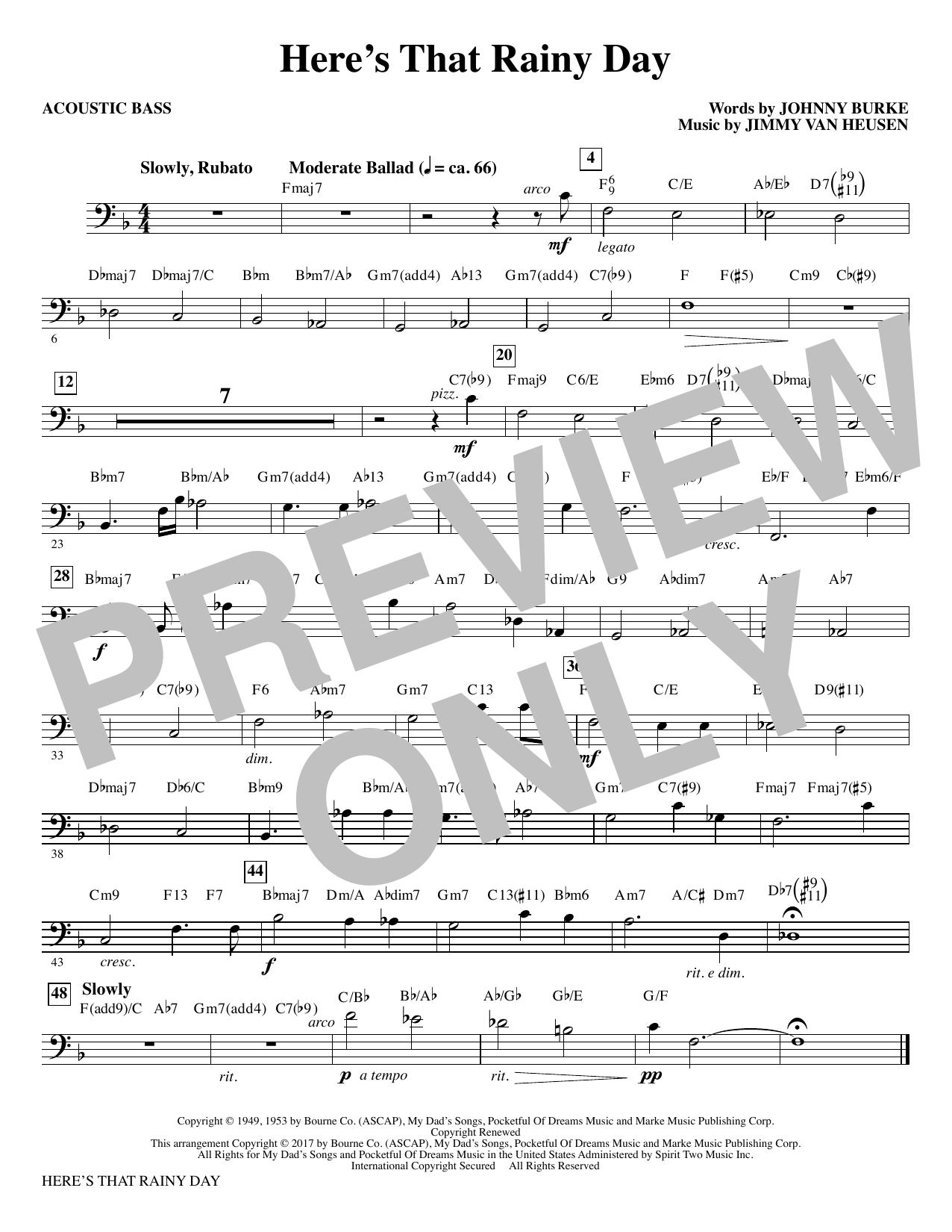 Here's That Rainy Day - Acoustic Bass (Choir Instrumental Pak)