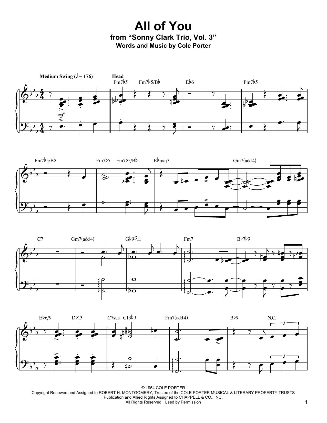 All Of You (Piano Transcription)