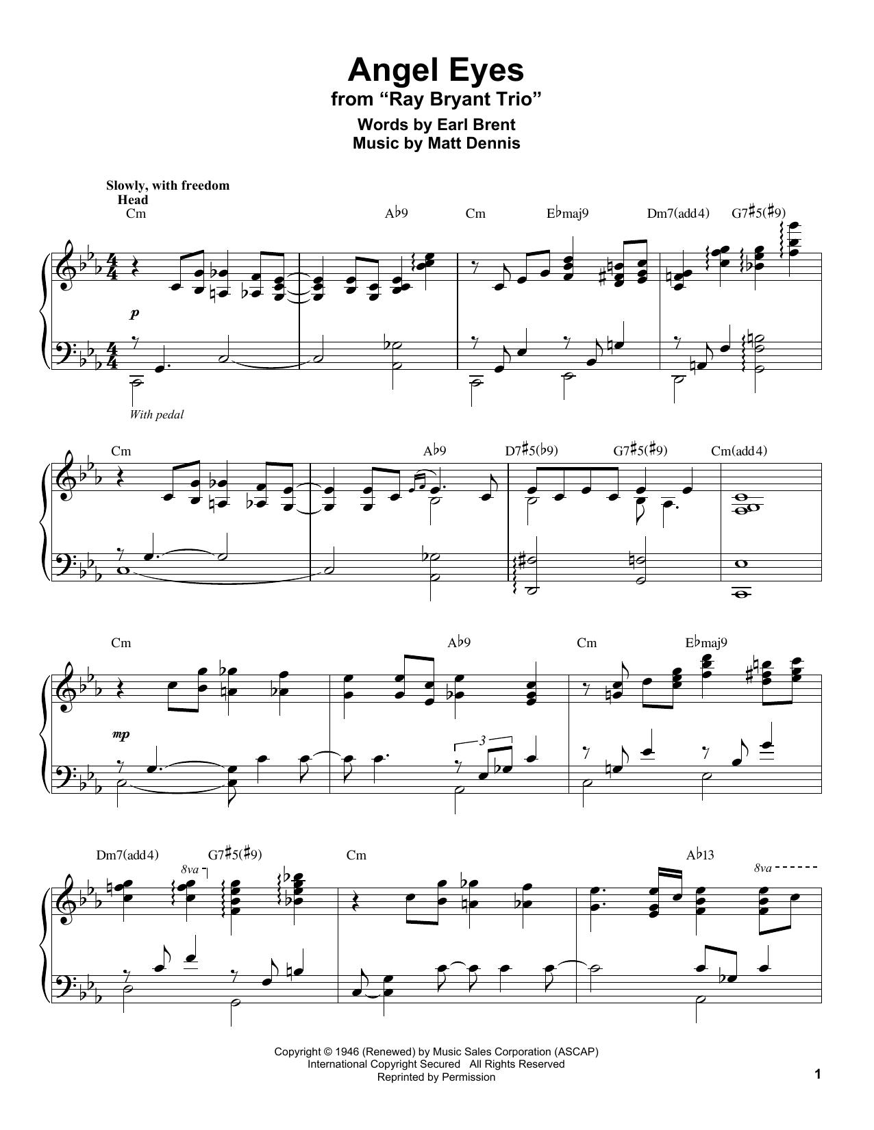 Angel Eyes (Piano Transcription)