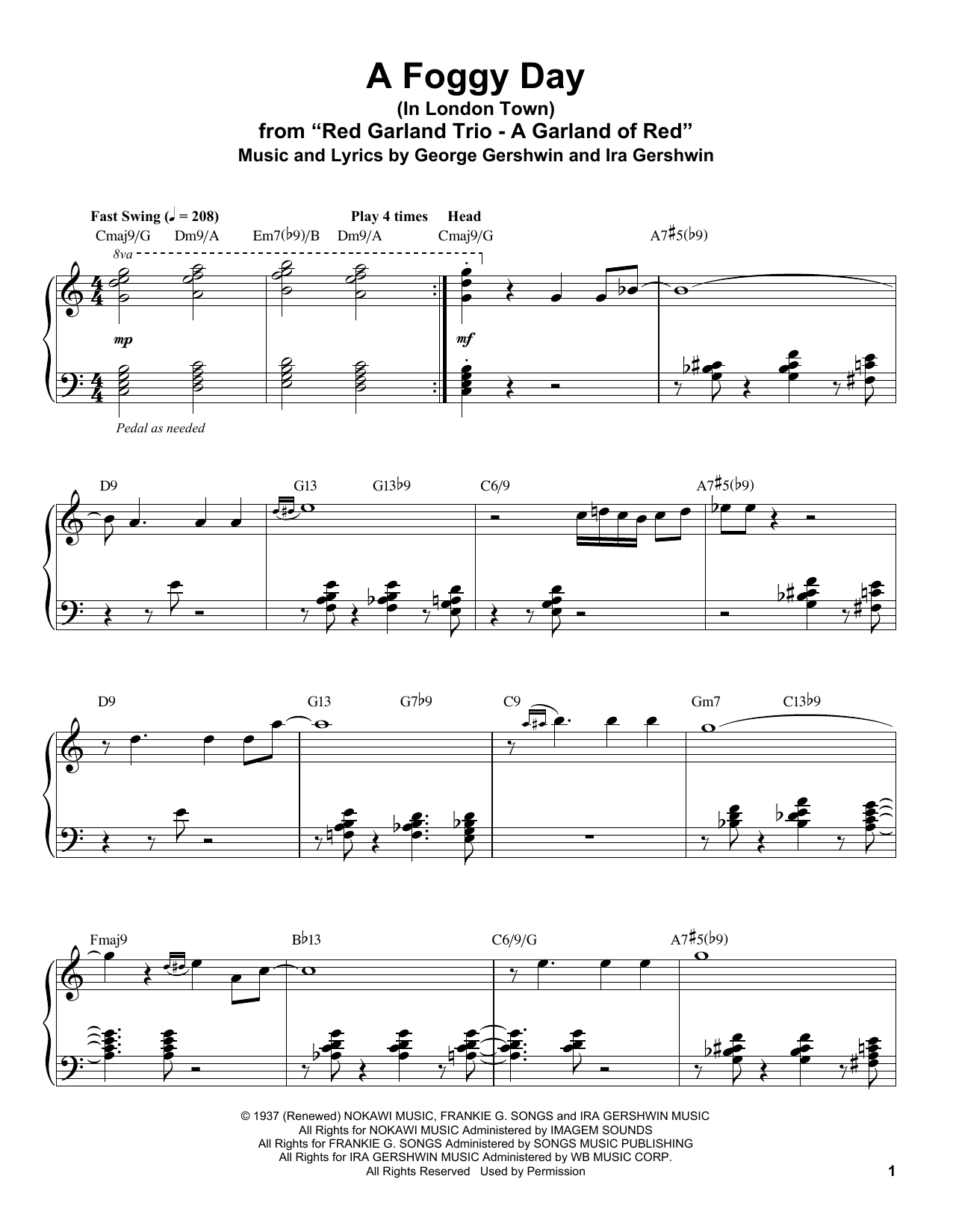 A Foggy Day (In London Town) (Piano Transcription)