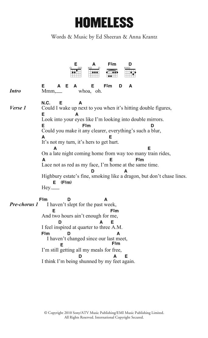 Sheet Music Digital Files To Print - Licensed Ed Sheeran Digital
