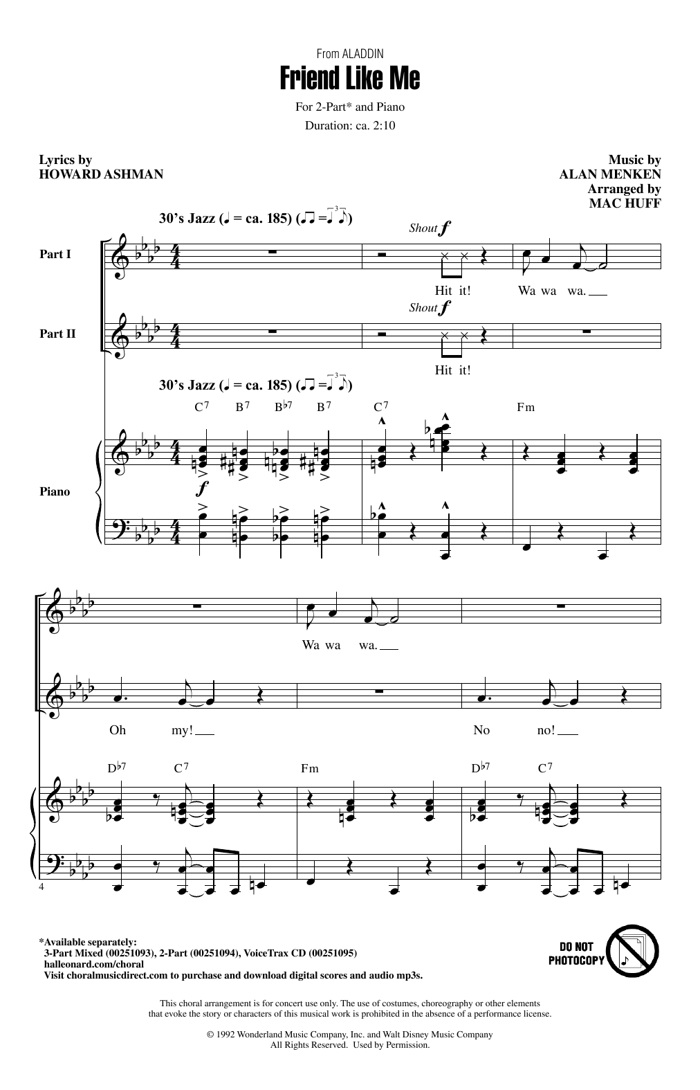 Friend Like Me (from Aladdin) (arr. Mac Huff) Sheet Music