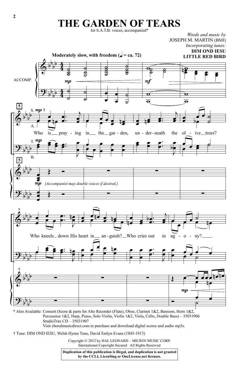 The Garden Of Tears Sheet Music