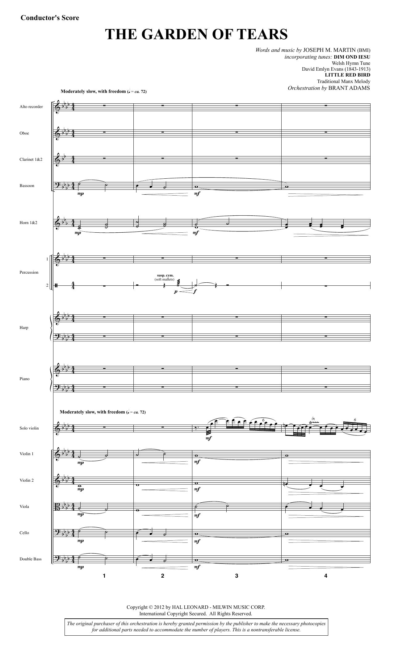 The Garden of Tears - Full Score (Choir Instrumental Pak)