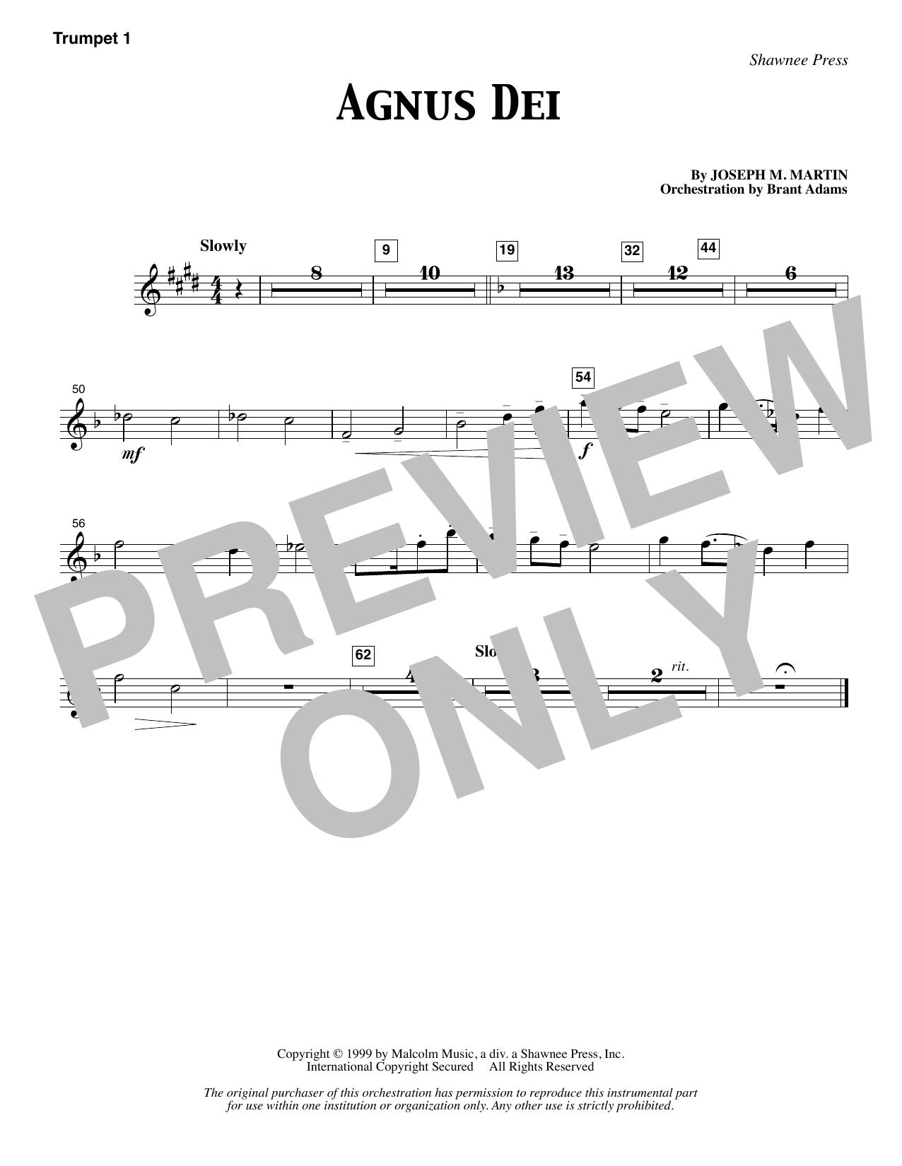 Agnus Dei - Bb Trumpet 1 (Choir Instrumental Pak)