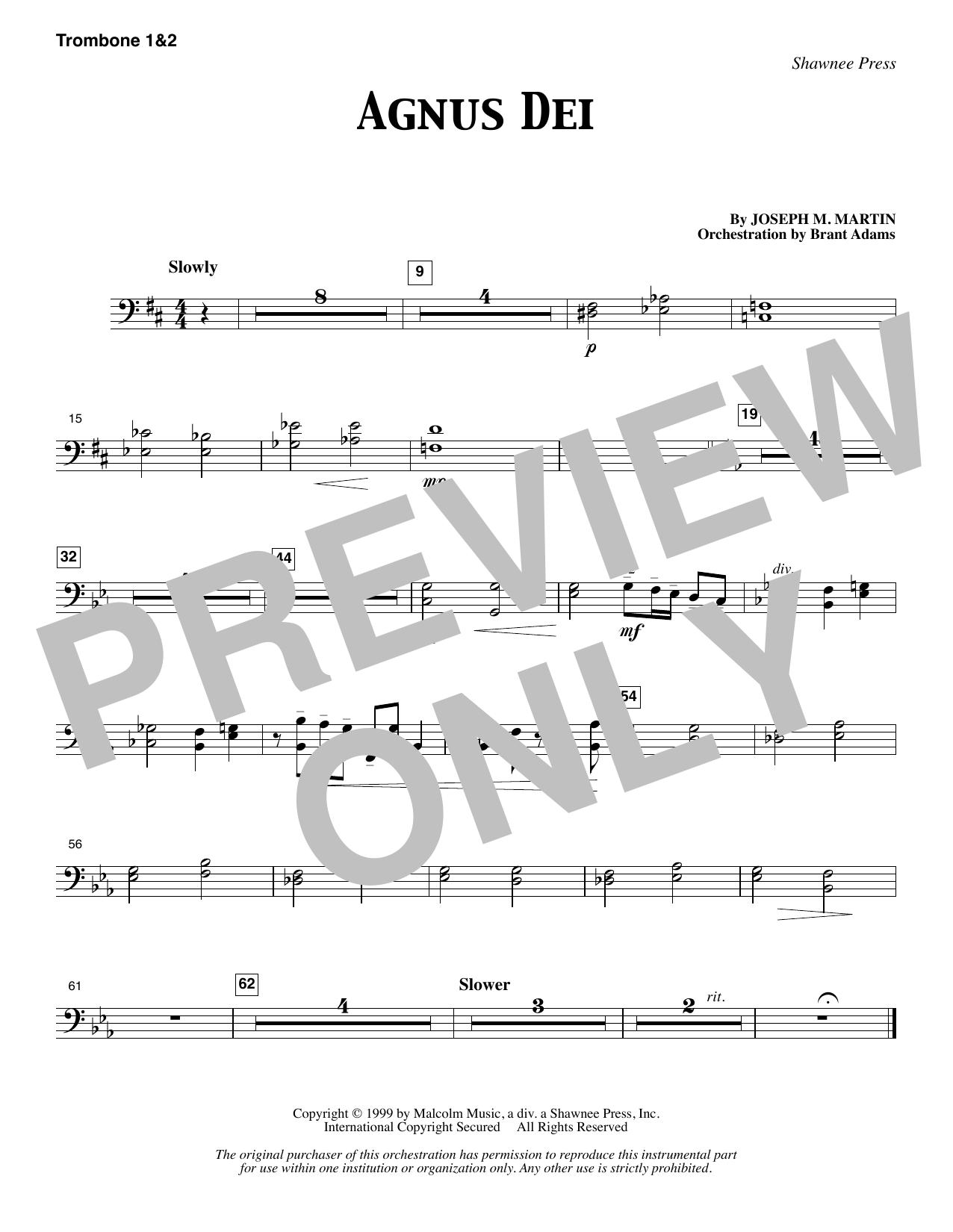 Agnus Dei - Trombone 1 & 2 (Choir Instrumental Pak)