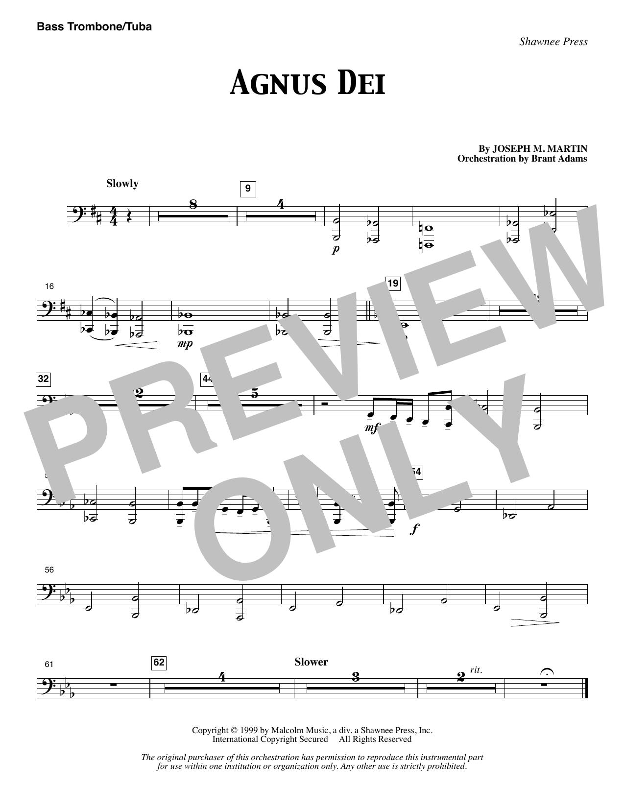 Agnus Dei - Bass Trombone/Tuba (Choir Instrumental Pak)