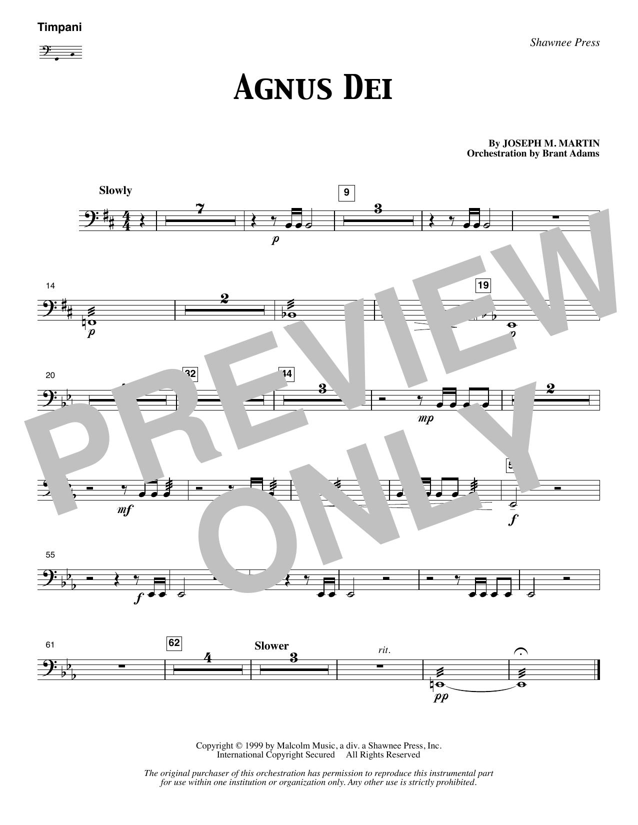 Agnus Dei - Timpani (Choir Instrumental Pak)