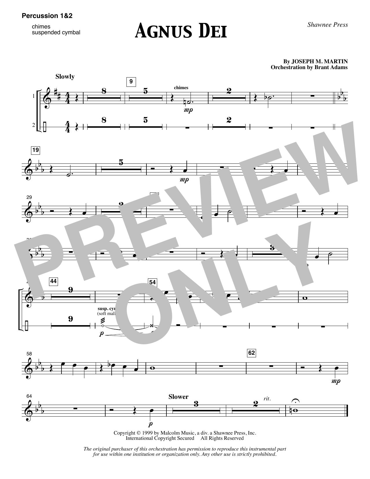 Agnus Dei - Percussion 1 & 2 (Choir Instrumental Pak)