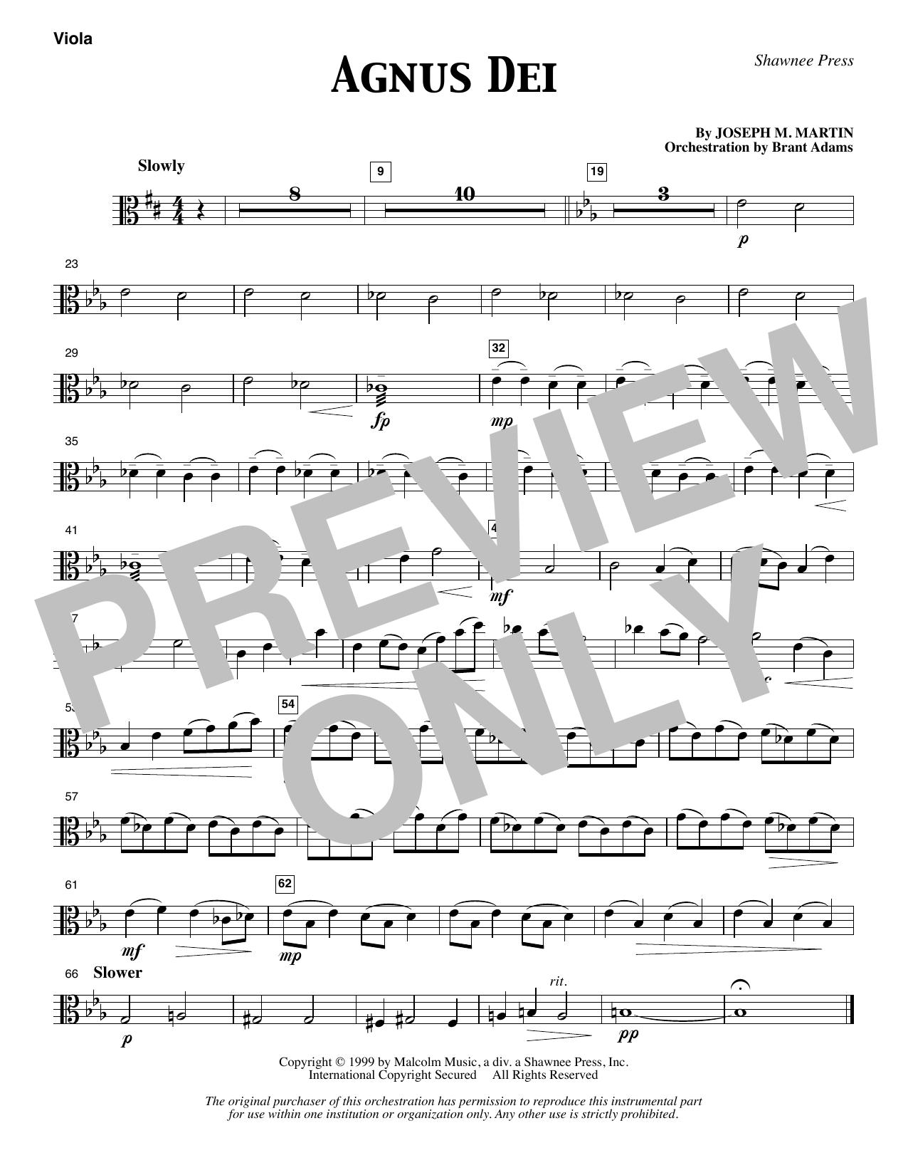 Agnus Dei - Viola (Choir Instrumental Pak)