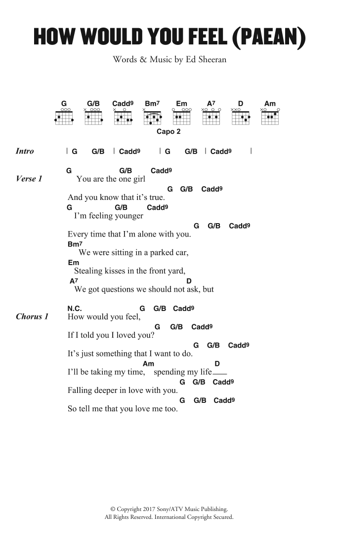 How Would You Feel (Paean) Sheet Music