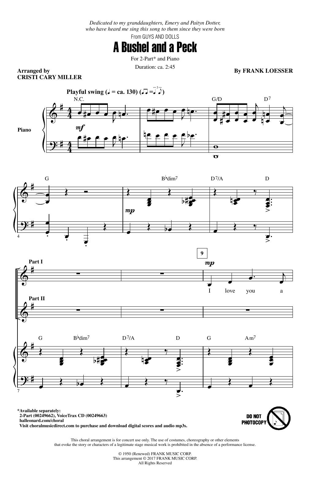 A Bushel And A Peck Sheet Music