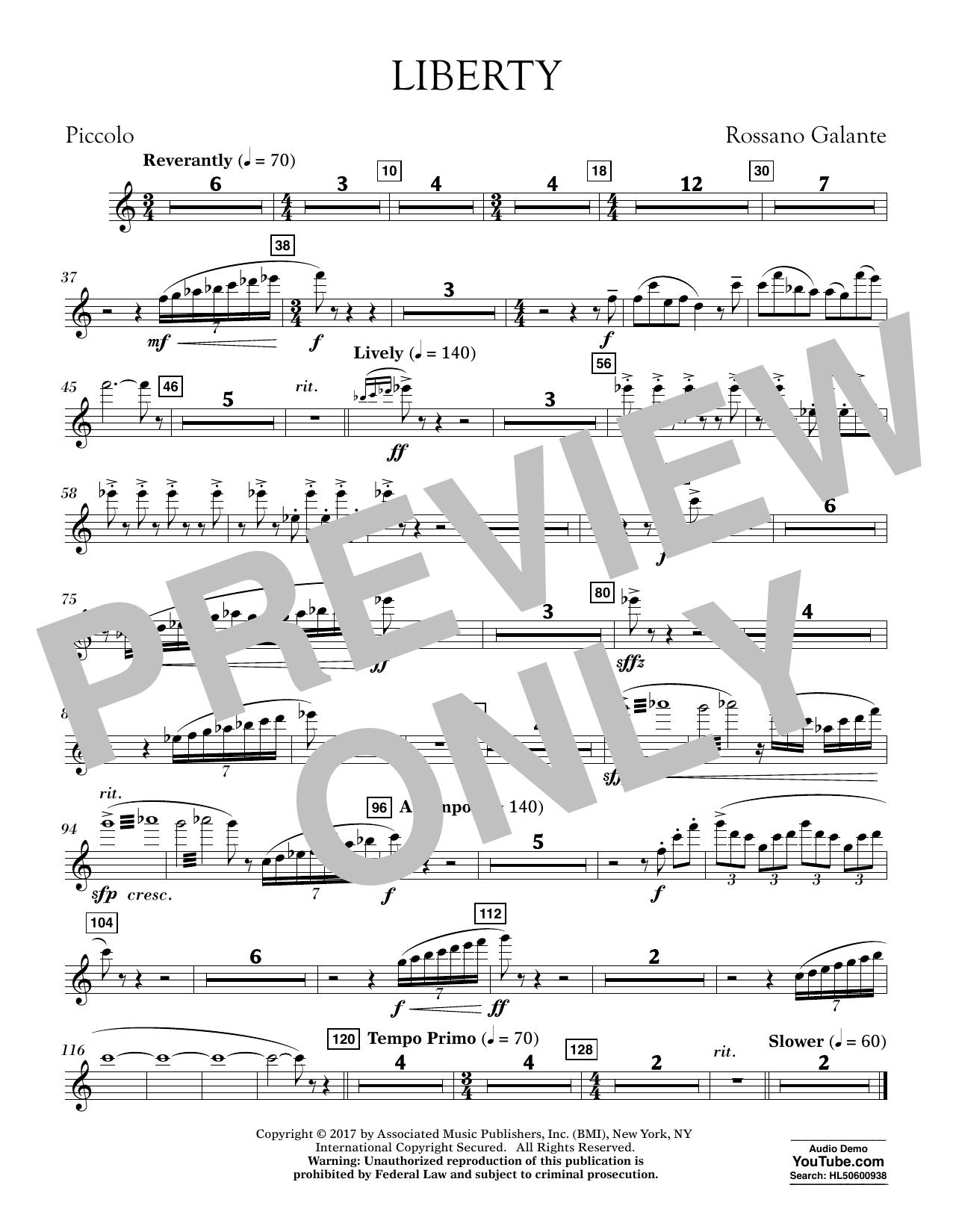Liberty - Piccolo (Concert Band)