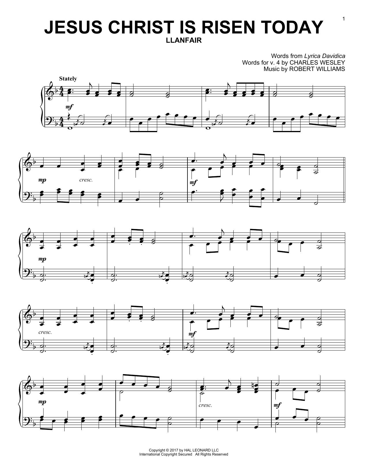 Jesus Christ Is Risen Today (Piano Solo)