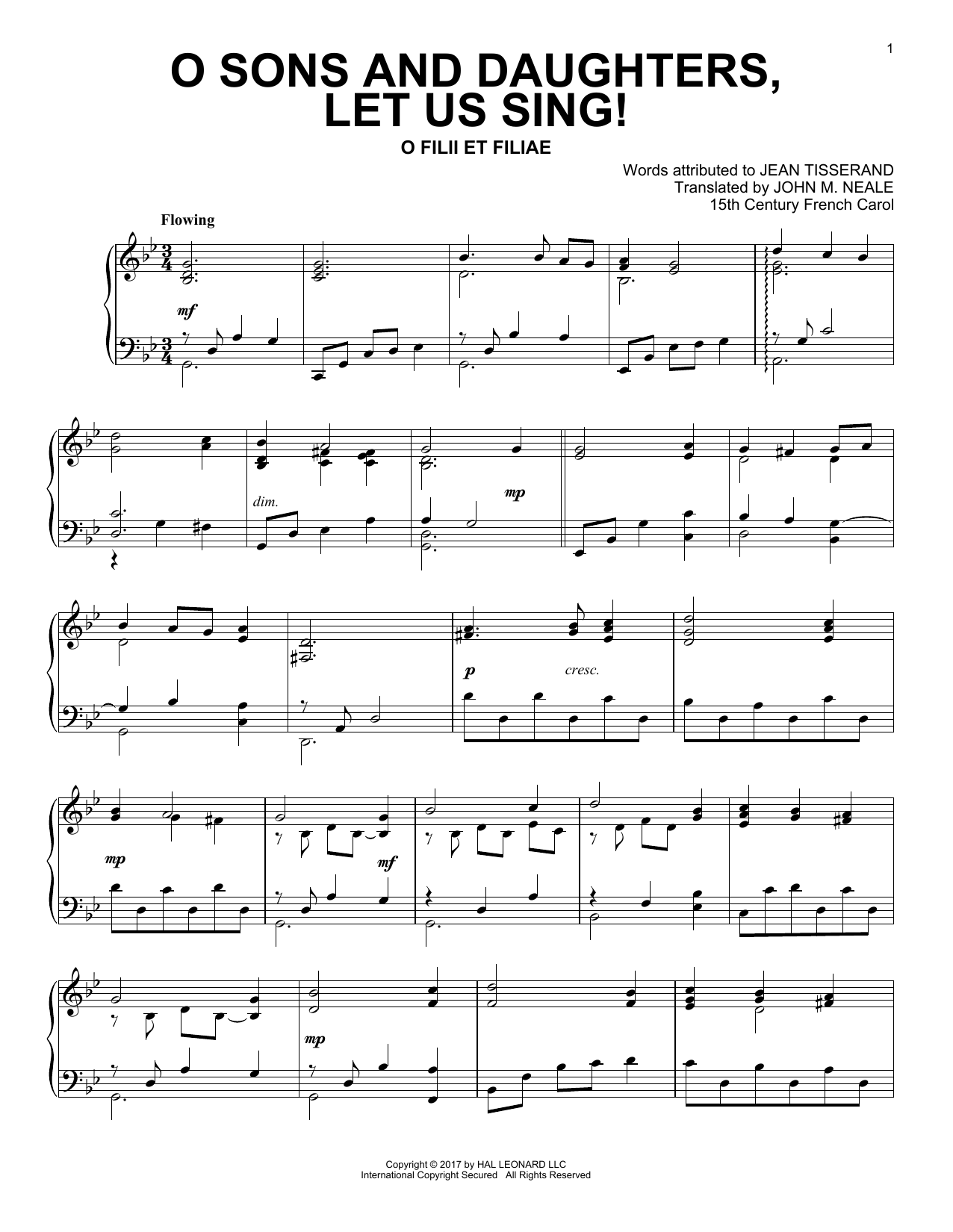 O Sons And Daughters, Let Us Sing! (Piano Solo)