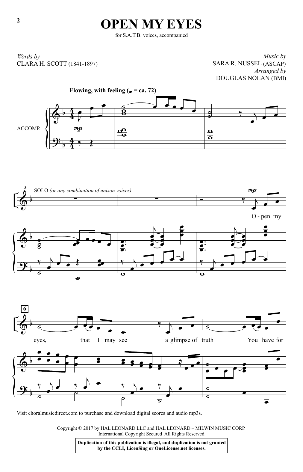 Open My Eyes Sheet Music