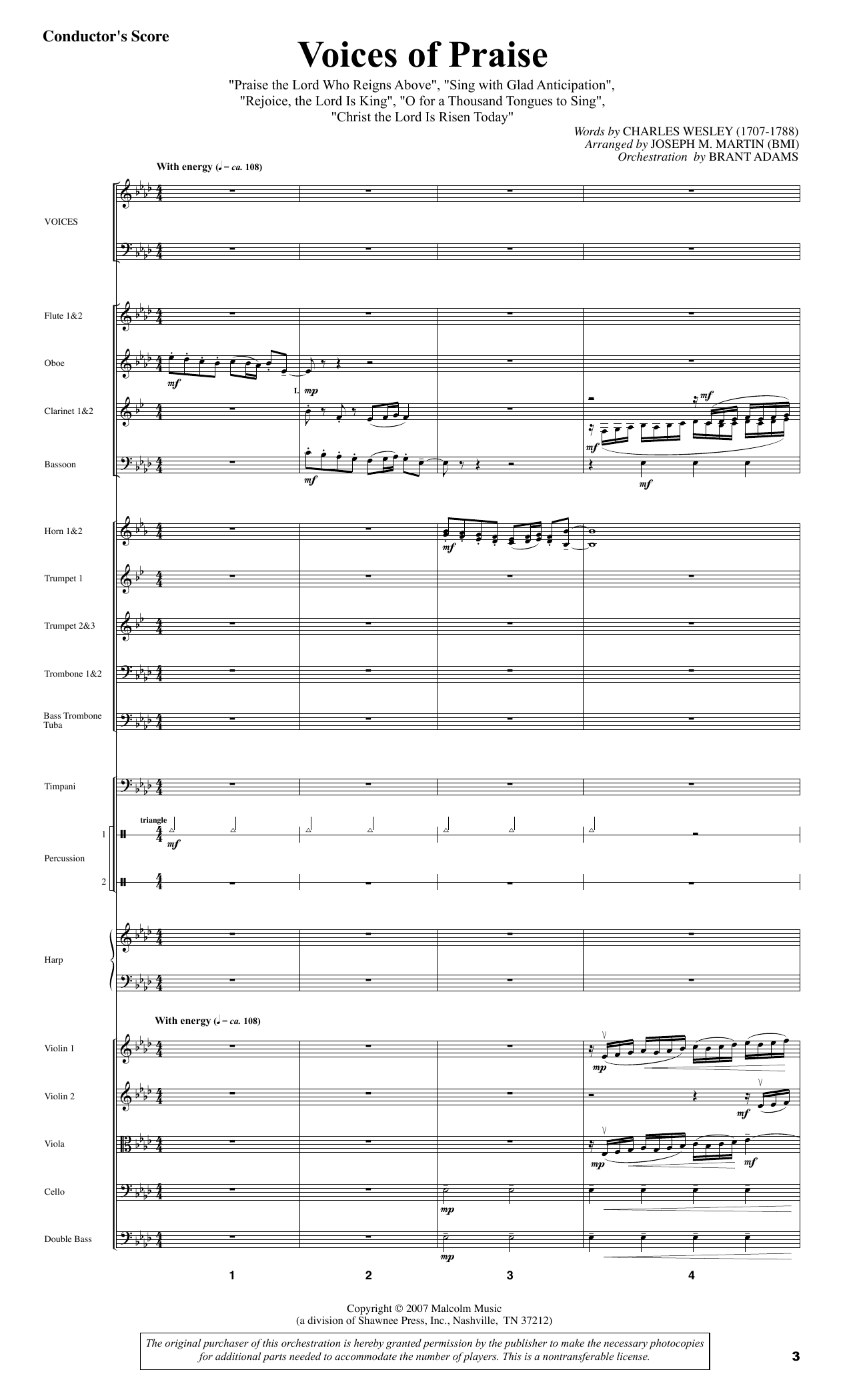 Testament of Praise (A Celebration of Faith) - Full Score Sheet Music