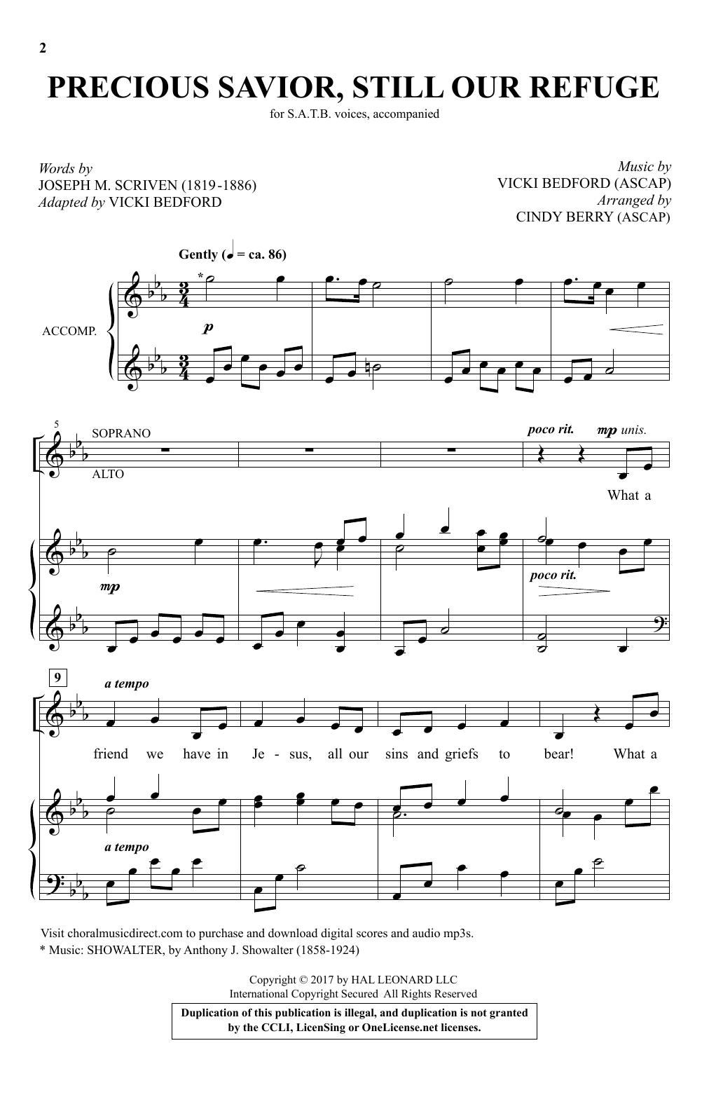 Precious Savior, Still Our Refuge (SATB Choir)