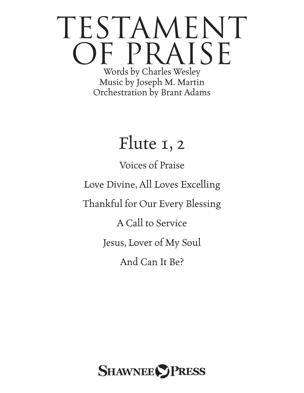 Testament of Praise (A Celebration of Faith) - Flute 1 & 2 (Choir Instrumental Pak)