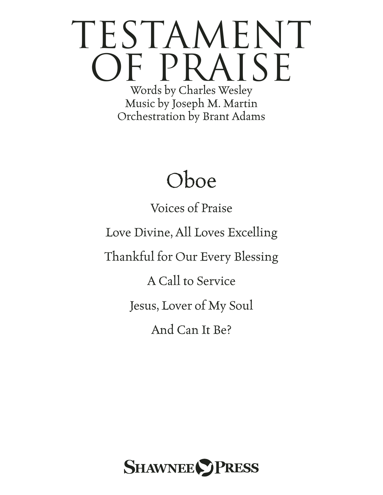 Testament of Praise (A Celebration of Faith) - Oboe Sheet Music